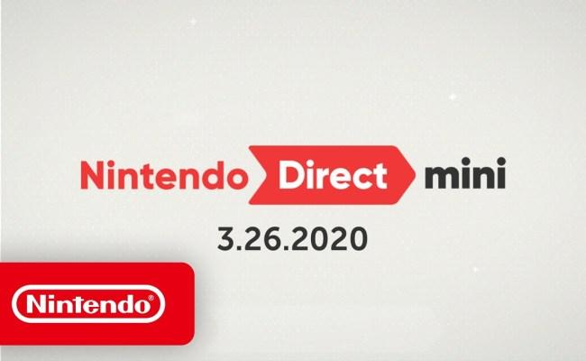 Nintendo Direct Mini Recap Announcement March 26 2020