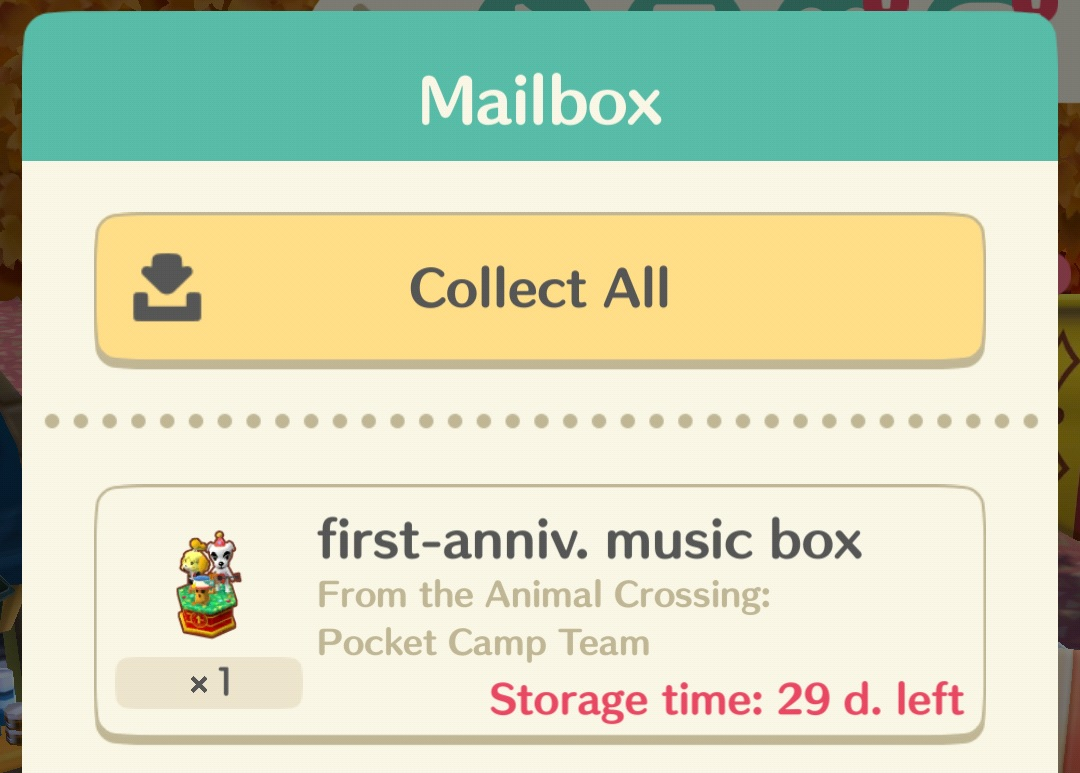 Animal Crossing Pocket Camp Multiple First Anniversary