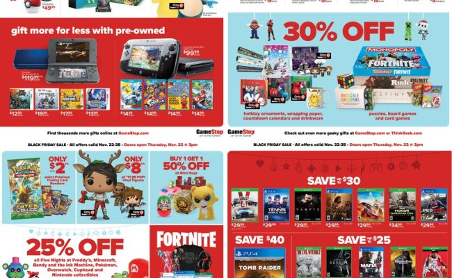 Gamestop S Black Friday 2018 Deals 50 Gift Card With