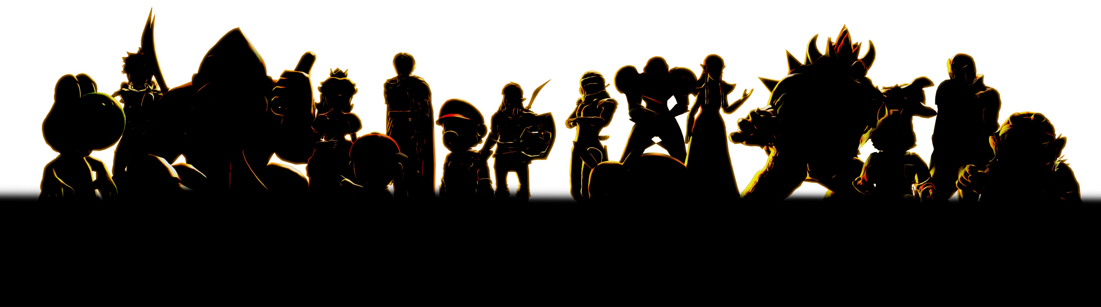 A Clearer Look At The Silhouettes From The Smash Bros