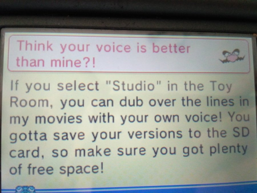 Warioware Gold let's players make their own dubs.
