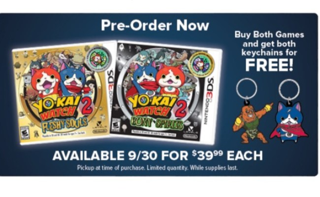 Pre Order Both Versions Of Yo Kai Watch 2 At Gamestop Get