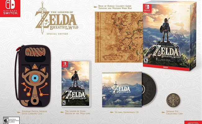 Zelda Breath Of The Wild Special Edition In Stock At