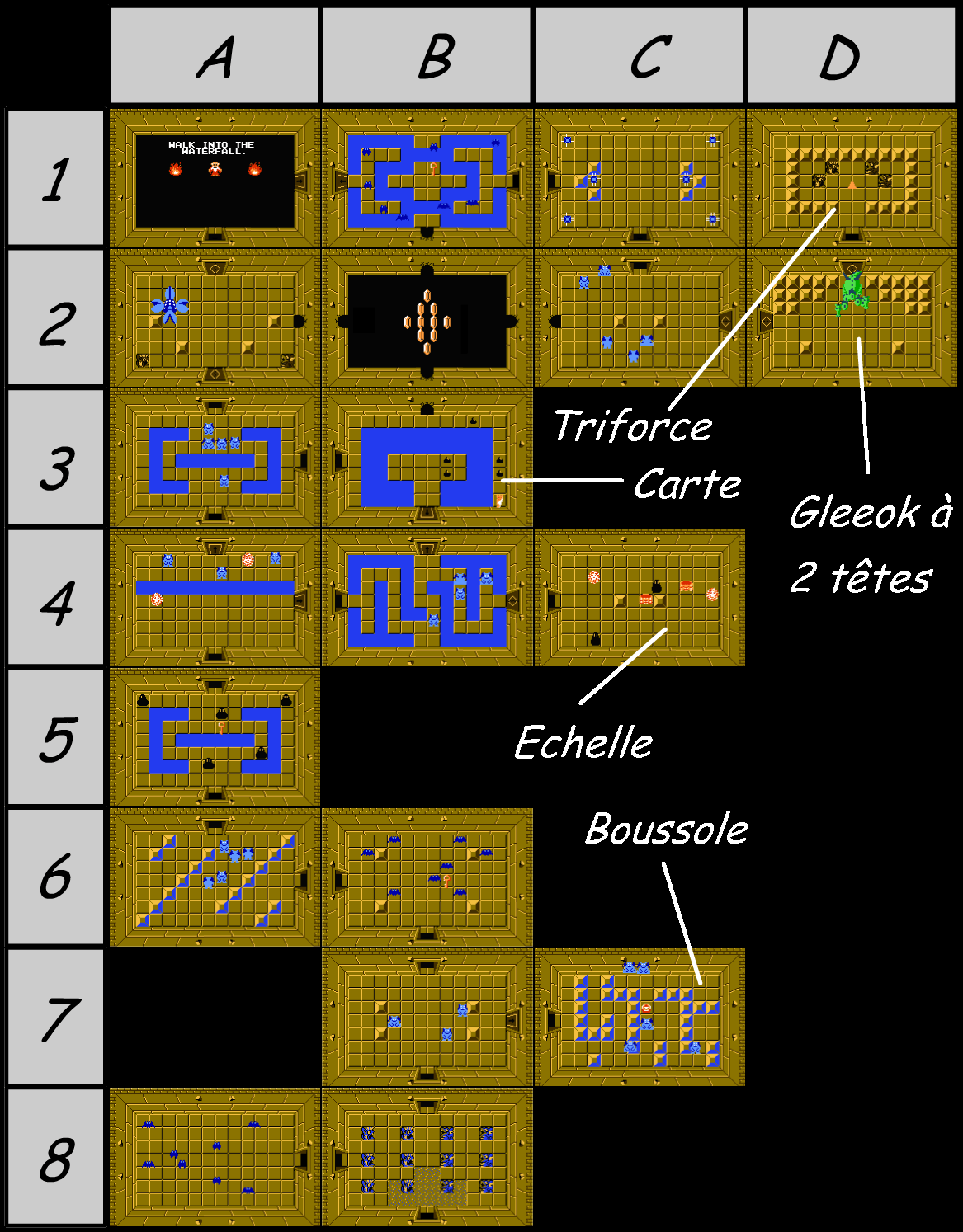 Legend Of Zelda Secrets Map : legend, zelda, secrets, Legend, Zelda, Level, Quest, Snake, (Zelda, Mini)