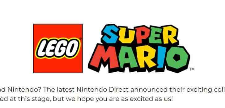 GAME UK Claims LEGO Super Mario Was Announced In A Nintendo Direct, Scrubs It Moments Later 1