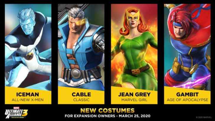 Even More New Costumes Announced For Upcoming Marvel Ultimate Alliance 3 Update 3