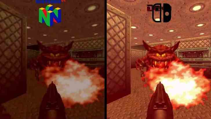 Here Is A Switch-Versus-N64 Comparison For DOOM 64 5