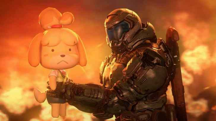 Fan-Art: Isabelle And The Doom Slayer Team Up Against Hellish Forces In This Animated Short 1