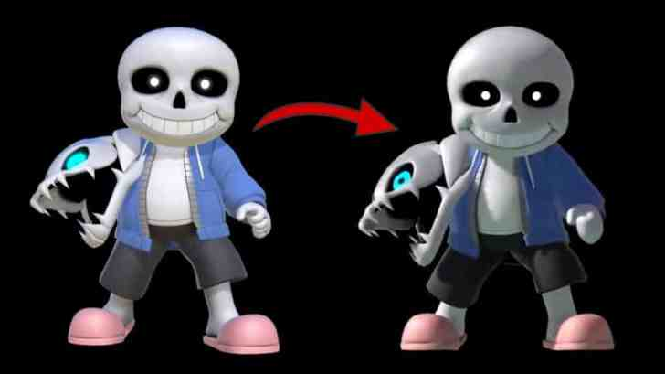 Sakurai Shares An Early Prototype Of The Sans Costume In Super Smash Bros. Ultimate 1