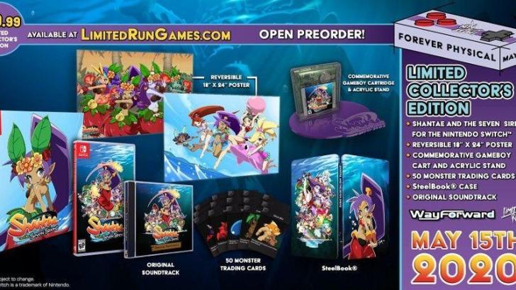 REMINDER: SHANTAE AND THE SEVEN SIRENS PHYSICAL RELEASE PRE-ORDERS CLOSE TOMORROW 1