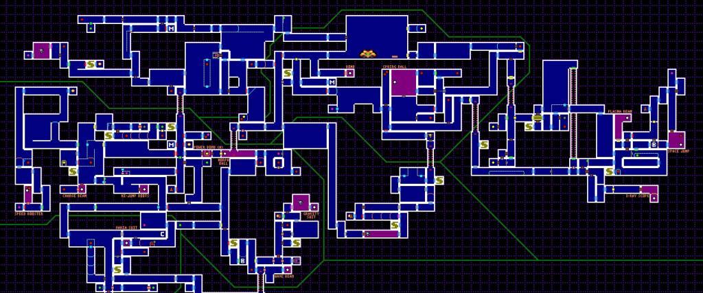 Ο τεράστιος κόσμος και ο χάρτης του Super Metroid