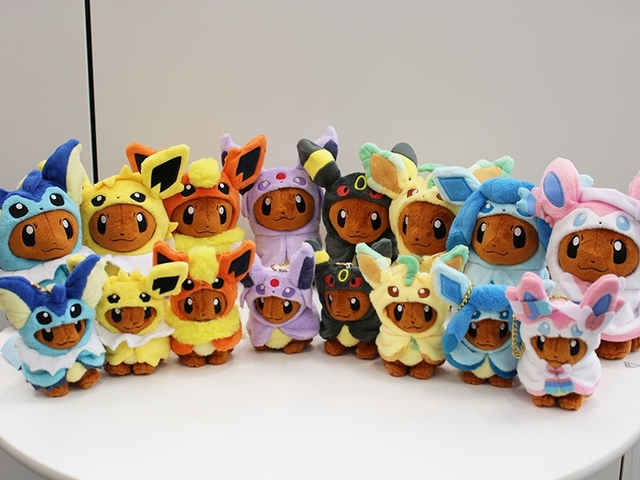 Pokemon Center's Eevee Poncho Evolution Merchandise Are Now Available
