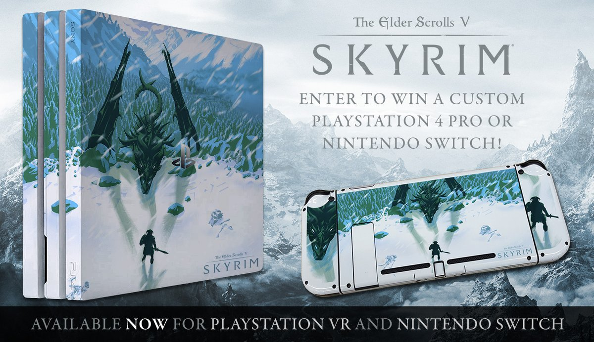 Win A One Of A Kind Skyrim Nintendo Switch In This Giveaway