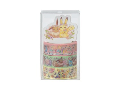 Pikachu and Eevee's Easter Masking Tape