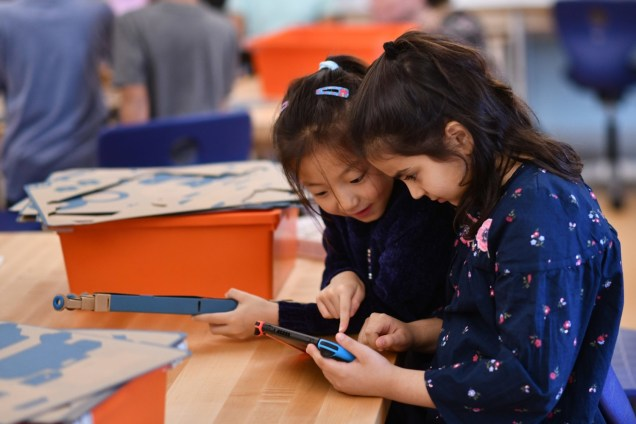 Nintendo Partners with Institute of Play to Bring Nintendo Labo to Schools, at Douglas G Grafflin School on Friday, Oct. 12, 2018 in Chappaqua, N.Y. (Charles Sykes/AP Images for Nintendo)