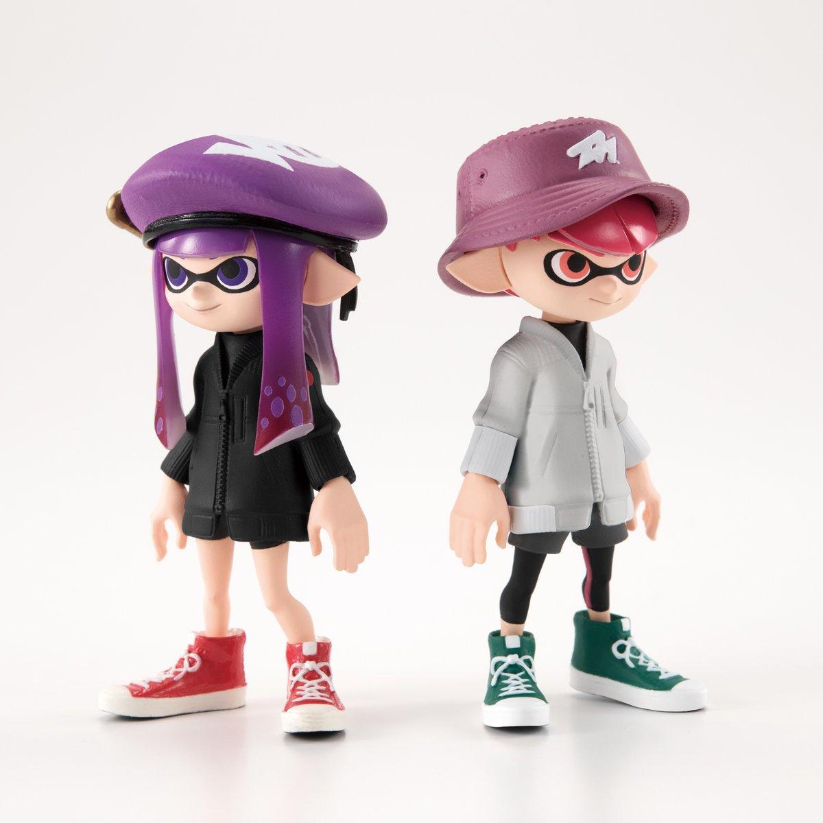 *B3683-3 Bandai Splatoon 2 Dress up Gear Collection Figure 3 Boy Set