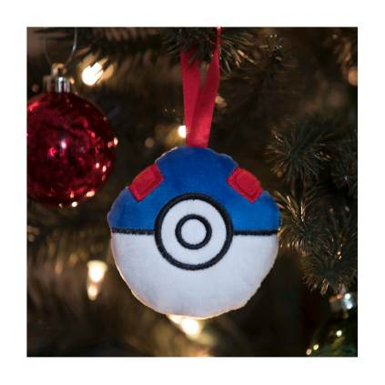 Pikachu Holiday Great Ball Plush Ornament - Lifestyle