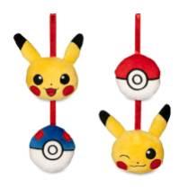 Pikachu Holiday Plush Ornament Set - Product