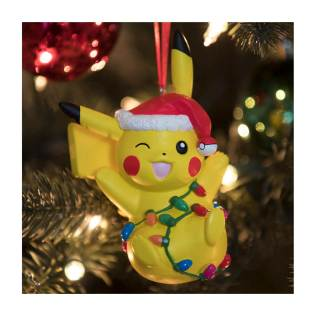 Pikachu Holiday Tangled Light Pikachu Ornament - Lifestyle