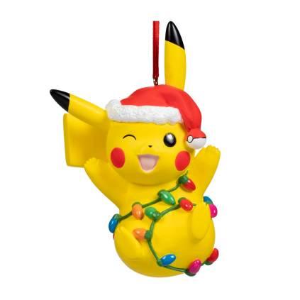 Pikachu Holiday Tangled Light Pikachu Ornament - Product