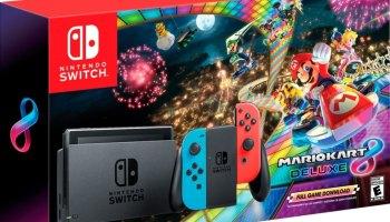 Nintendo Switch Mario Kart 8 Deluxe Set Returns On Black