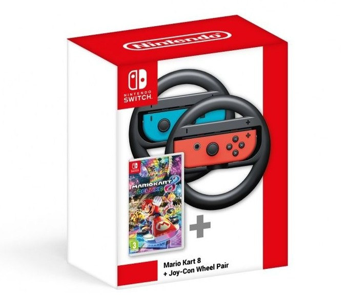 Official Mario Kart 8 Deluxe Joy Con Wheel Pair Bundle Spotted In