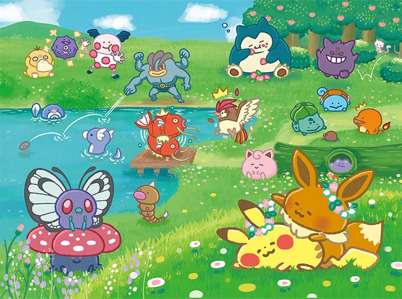 Pokemon Center Original T-shirt L Pokémon Yurutto Pikachu /& Eevee