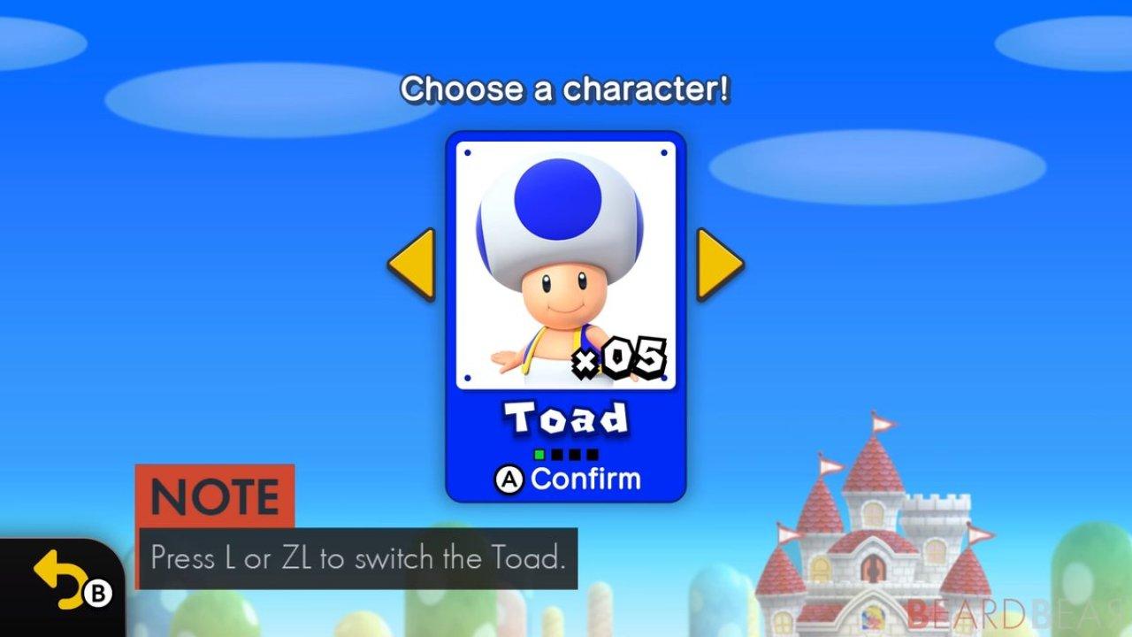 How To Unlock Blue Toad In New Super Mario Bros U Deluxe Nintendosoup