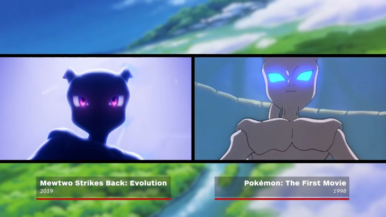 Here S A Comparison Of Mewtwo Strikes Back Evolution 2019 Versus