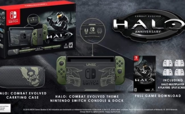 Fan Art Nintendo Switch Halo Combat Evolved Edition
