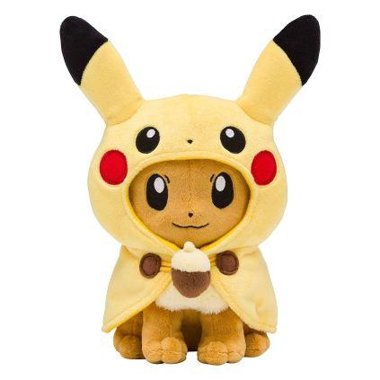 pokecen-eevee-wear-pikachu-poncho-plush-apr282019-1
