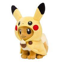 pokecen-eevee-wear-pikachu-poncho-plush-apr282019-2