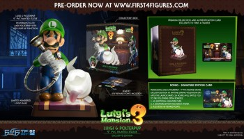 First 4 Figures Tease Luigi S Mansion 3 Statue Pre Orders