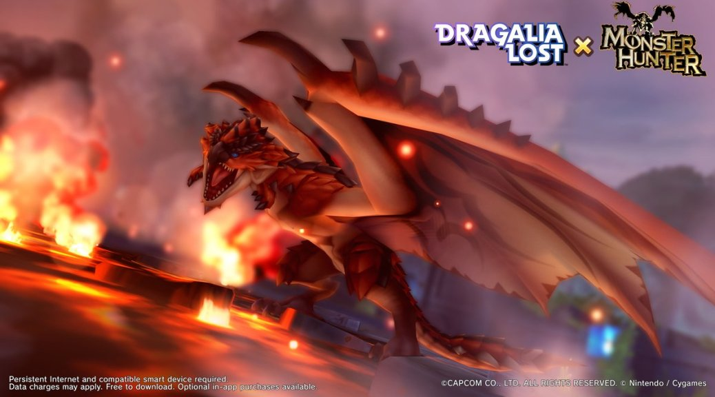 Rathalos To Appear In Dragalia Lost S Monster Hunter Event