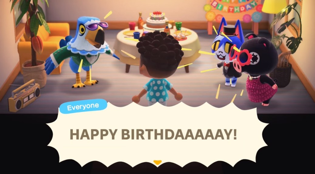 Groovy Check Out Some Birthday Party Gameplay From Animal Crossing New Personalised Birthday Cards Veneteletsinfo