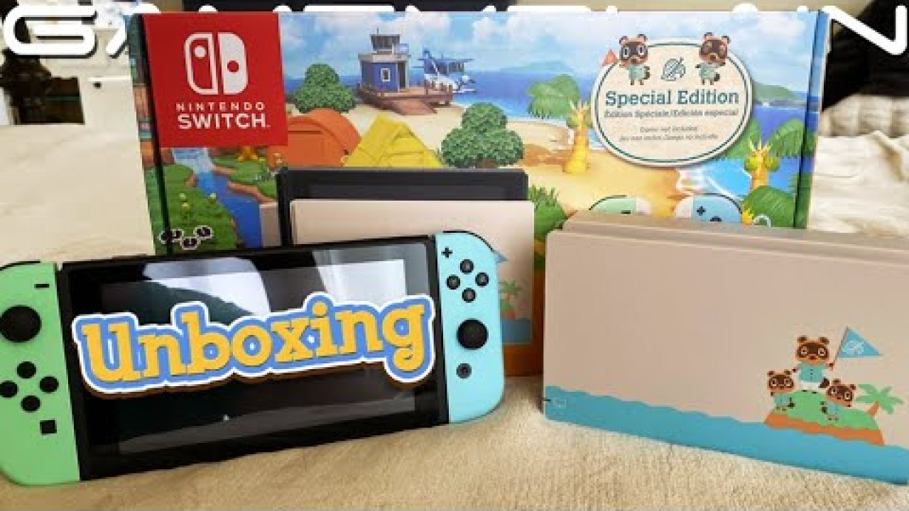 First Unboxing Video For Nintendo Switch Animal Crossing New