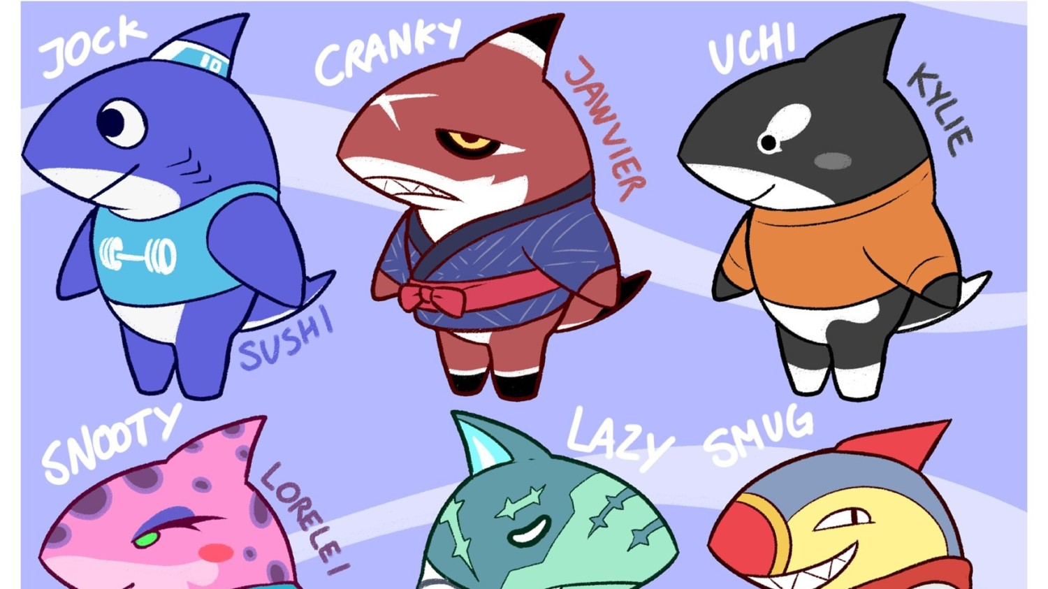 Fan Art What If Animal Crossing New Horizons Had Shark Villagers