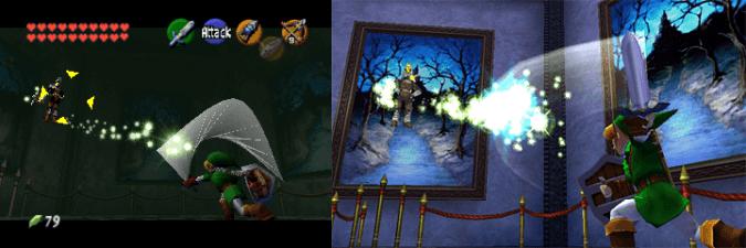 Link fighting Ganondorf