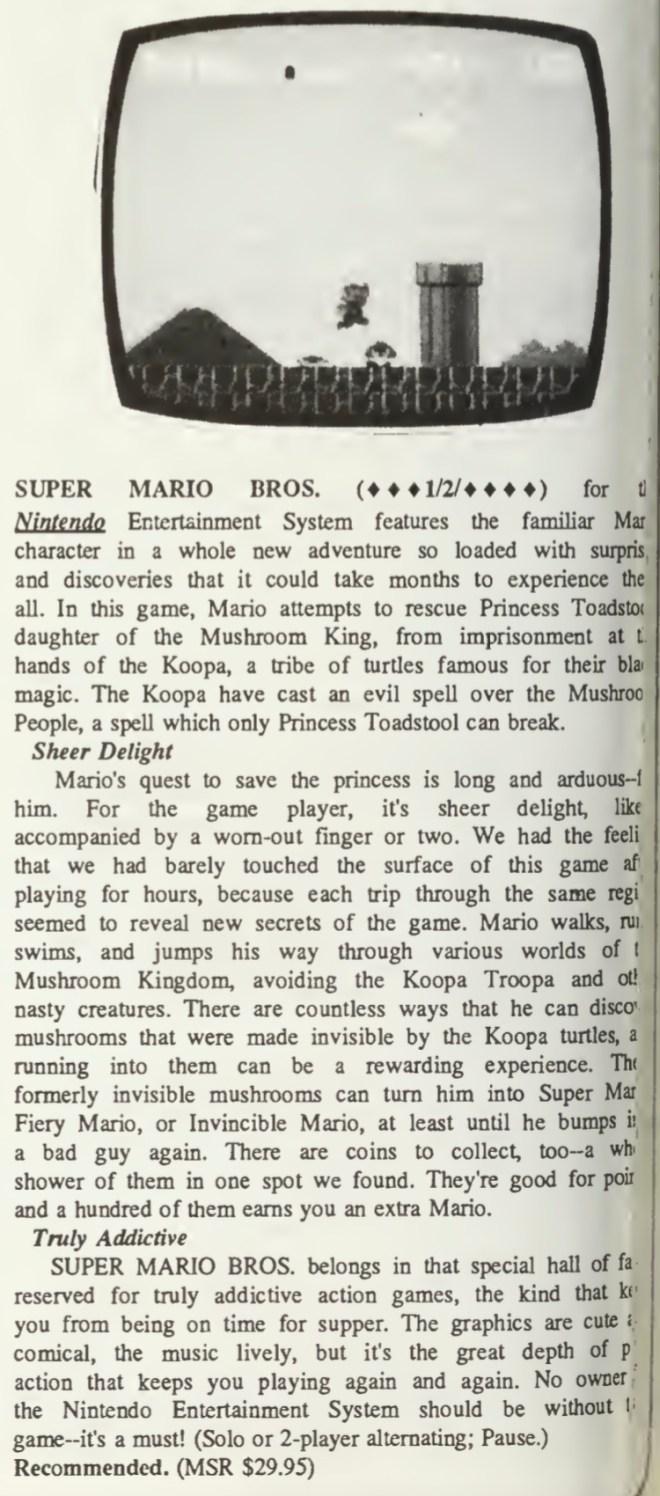Computer Entertainer - Super Mario Bros