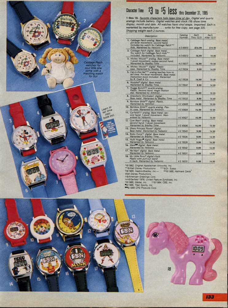 Sears-1985 Char Watches