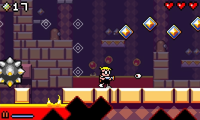 Mutant Mudds is a fun, but difficult 2D action game.