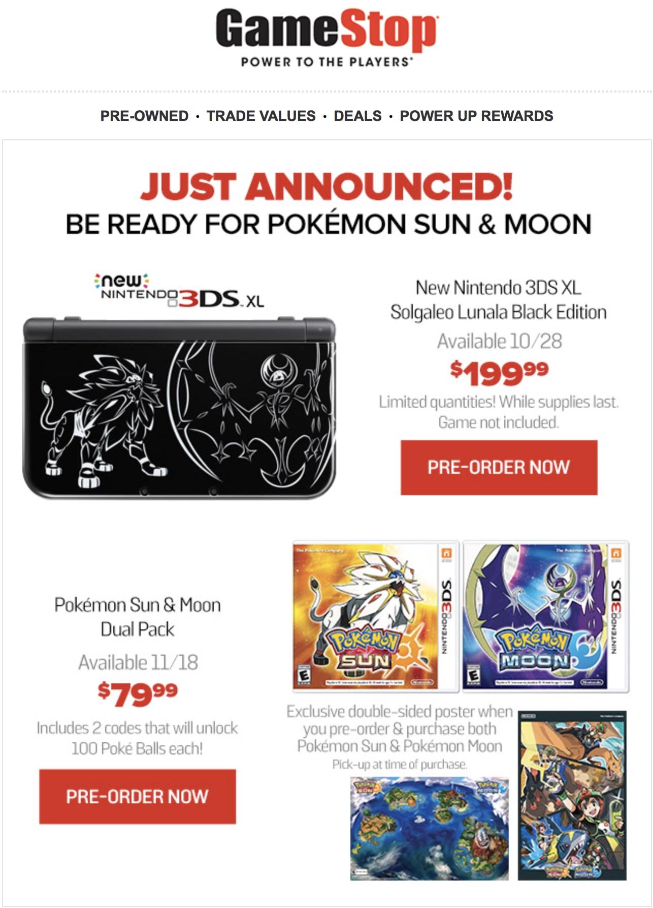 pokemon ultra sun/moon deluxe dual edition