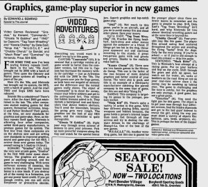 NES Game Reviews - Milwaukee Journal - 12-20-1986