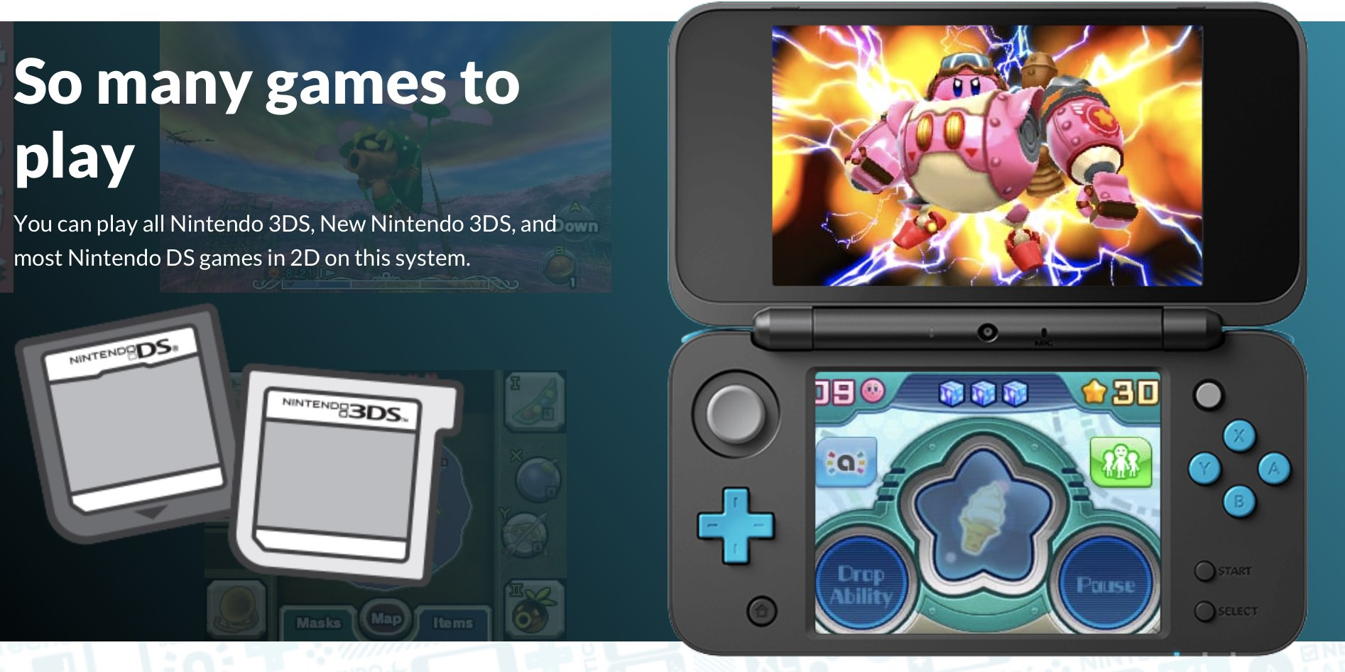 what kind of games does the nintendo 2ds play