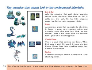 The Legend of Zelda Instruction Booklet - 35