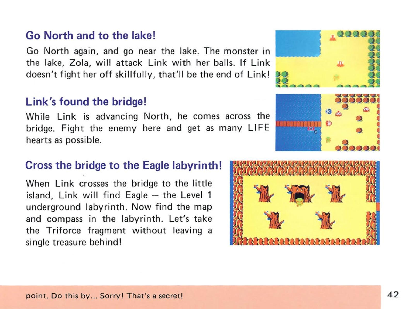 The Legend of Zelda Instruction Booklet – 42 – Nintendo Times