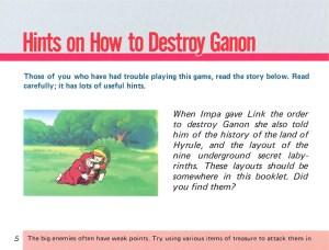 The Legend of Zelda Instruction Booklet - 5