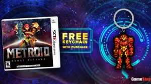 Free Samus Keychain With Purchase Of Metroid: Samus Returns At GameStop