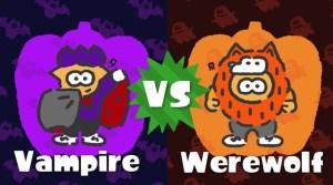 Splatoon 2 Spooky Splatfest: Vampire VS Werewolf