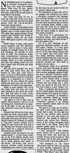 Ed Semrad - NES Reviews - Milwaukee Journal - 12-19-87